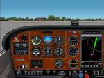 FS2004/2002                   Cessna 182 Woodgrain Panel.